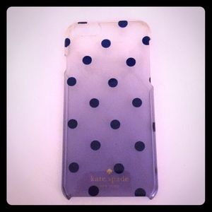 Kate Spade iPhone 6/6s case ombre polka dots
